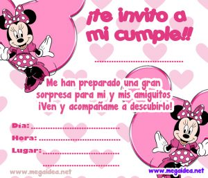 Invitación De Minnie Mouse Para Imprimir Mega Idea