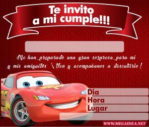 Invitación De Cars Para Imprimir Mega Idea