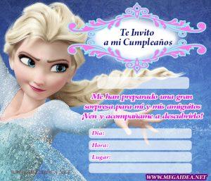 Invitación De Frozen Para Imprimir Mega Idea