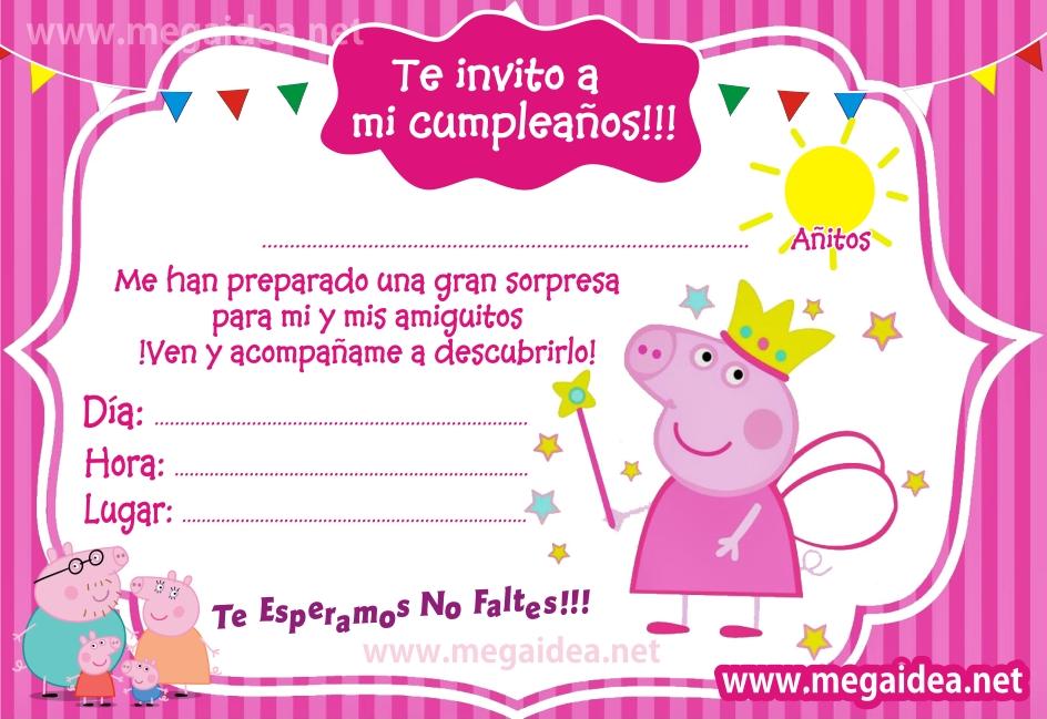 Invitaciones De Peppa Pig Para Imprimir Mega Idea