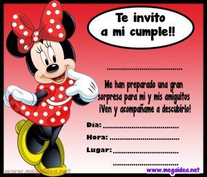 Invitación De Minnie Mouse Para Imprimir Mega Idea