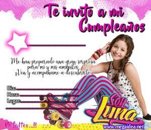 Invitación De Soy Luna Para Imprimir Mega Idea