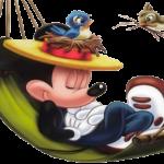 mickey durmiendo