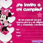 Invitación de Minnie Mouse para imprimir