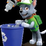 Rocky Paw Patrol perros reciclando