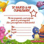 Invitaciones de the backyardians para impirmir
