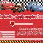 Invitación de Cars para imprimir