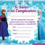 Invitación de Frozen para imprimir