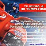 Invitación de Big Hero para imprimir