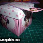 Diseño de Invitación En Cajita Minnie Mouse