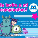 Invitación de Monsters para imprimir