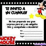Invitación de Mickey Mouse para imprimir
