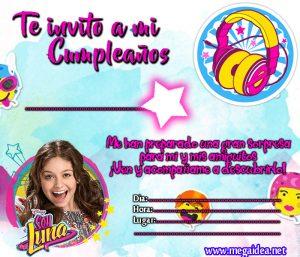 Soy Luna Invitacion Invitacion De Soy Luna Para Cumpleaos