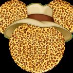 Cabeza Mickey Safari Leopardo