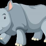 Mono Mickey Safari Rinoceronte