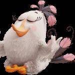 angry birds pajaro blanco pelicula