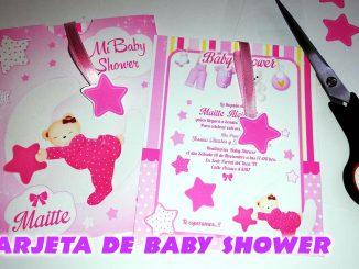 tarjeta baby shower you