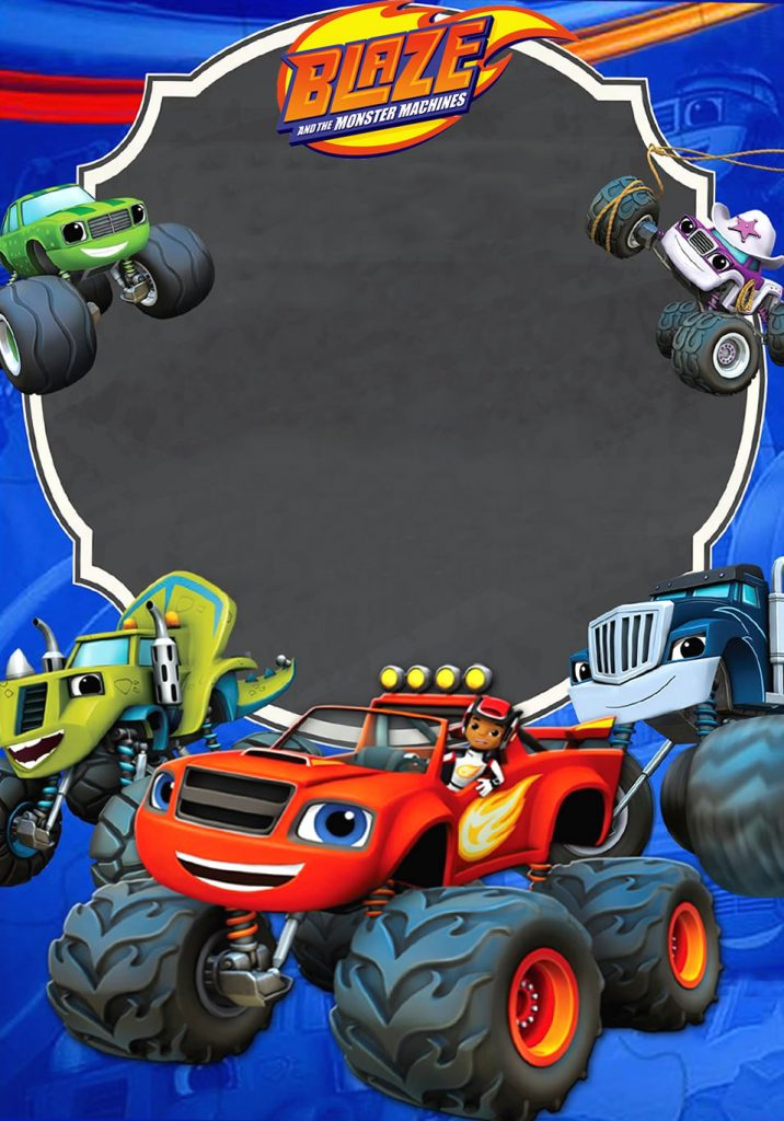Invitación Blaze And The Monster Machines Mega Idea