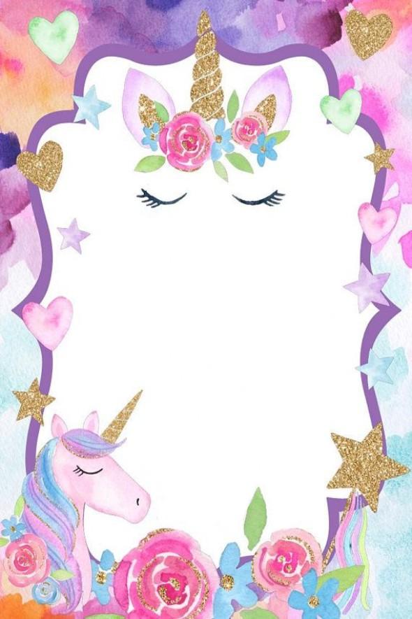 Invitación De Unicornio Para Imprimir Mega Idea