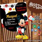 Invitaciones Mickey Mouse para Imprimir