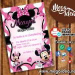 Invitaciones Minnie Mouse para Imprimir
