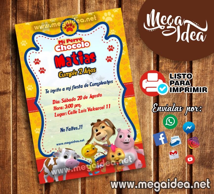 Invitación Perro Chocolo Para Imprimir Mega Idea