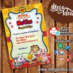 Invitación Perro Chocolo para Imprimir