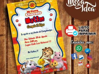Invitaciones Virtual De Perro Chocolo Mega Idea