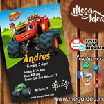 Invitación Blaze and The Monster Machines