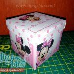 Invitación en Cajita Minnie Mouse para Imprimir