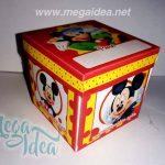 Invitación en Cajita Mickey Mouse para Imprimir