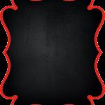 marco invitacion negro rojo