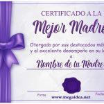 Descargar Diplomas para el Día de la Madre