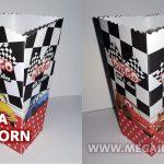 Cajita de Popcorn de CARS para Imprimir