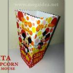 Cajita de Popcorn Mickey para Imprimir