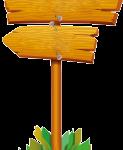 letrero madera