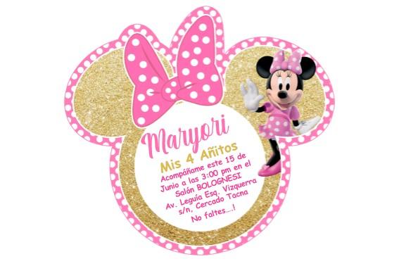 Invitacion Minnie Dorada222