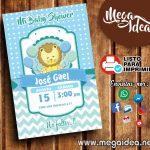 Invitación de Baby Shower Niño para Imprimir