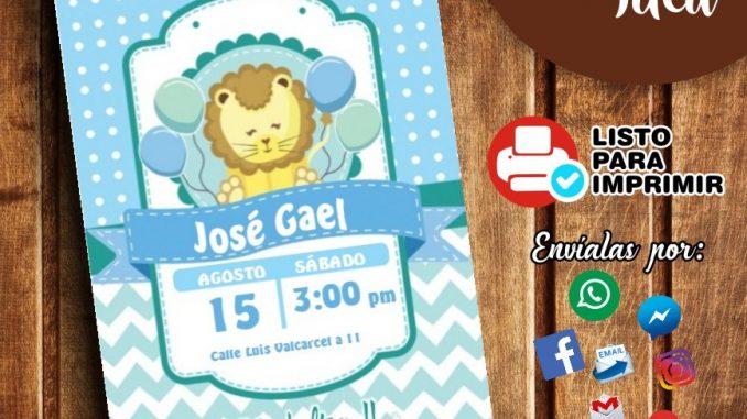 Invitación De Baby Shower Niño Para Imprimir Mega Idea
