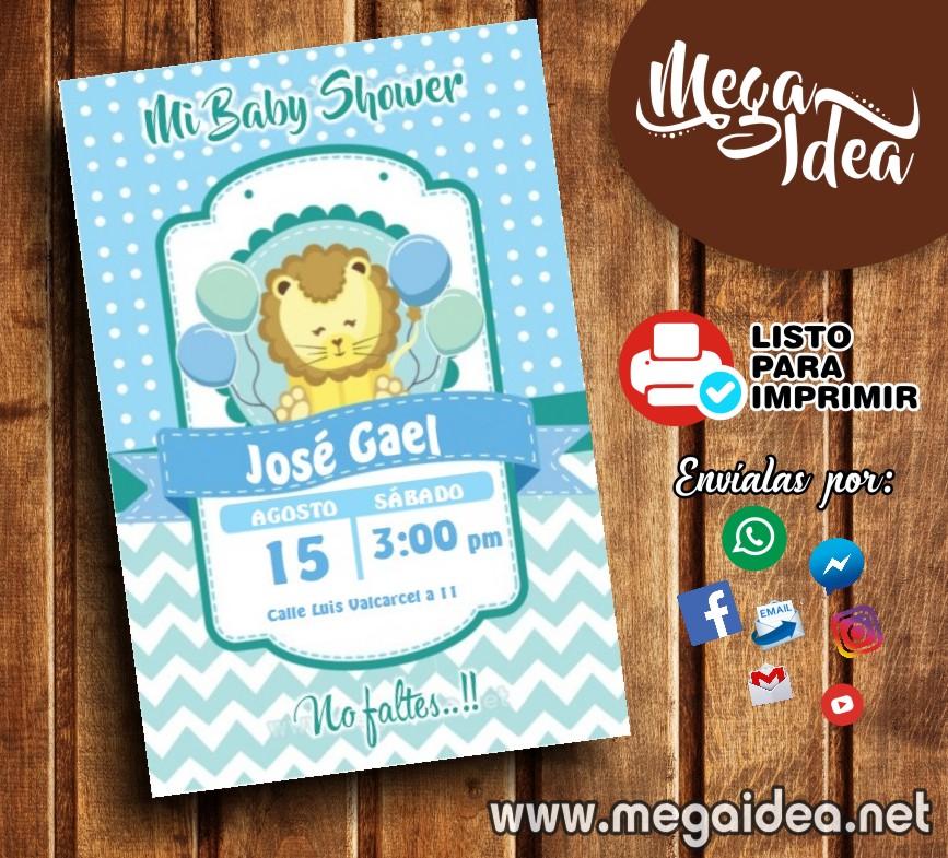 Lista De Baby Shower Nino.Invitacion De Baby Shower Nino Para Imprimir Mega Idea