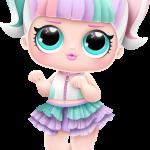 lol surprise Unicorn serie03 n12 boneca sem acessorios