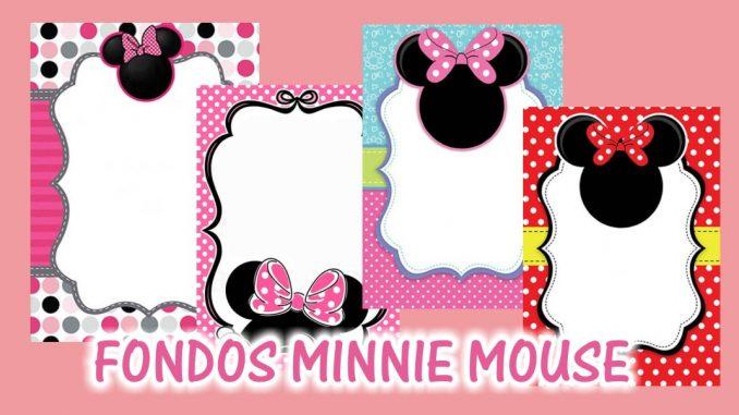 Fondos Para Invitaciones De Minnie Mouse Mega Idea