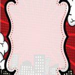 fondo comics rojo marco
