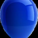 globo azul rey