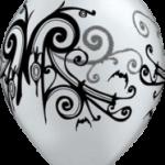 globo blanco negro