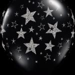 globo negro estrellas blancas