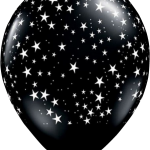 globo negro estrellitas