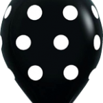 globo negro puntos blancos
