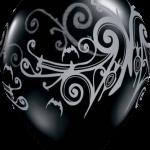 globo negro y blanco