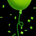 globo verde claro